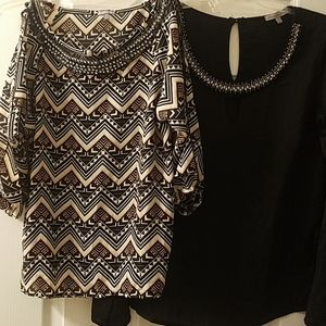 *LOT* ♡ two CR sparkly dressy shirts ♡